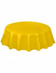 Nappe ronde en plastique jaune 213 cm