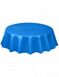 Nappe ronde en plastique bleu