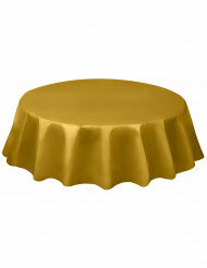 Nappe ronde en plastique or