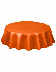 Nappe ronde en plastique orange 213 cm