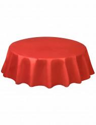 Nappe jetable ronde en plastique rouge