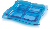 Plateau puzzle bleu
