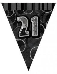 Guirlande fanions noire 21 ans