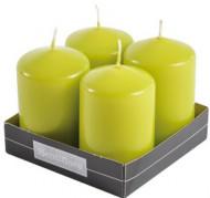 4 Bougie cylindre verte