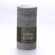 Bougie cylindrique longue rustique grise