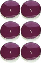 6 Bougies chauffe-plat prune