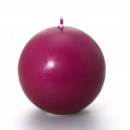 Bougie boule prune 7,5 cm