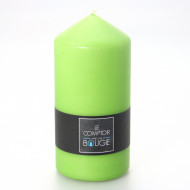 Grande bougie cylindrique verte