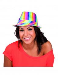 Chapeau borsalino multicolore à sequins adulte