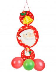 Suspension avec ballons Père Noël
