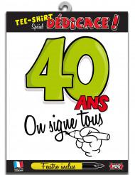 T-shirt Age 40 ans