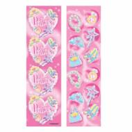 8 planches de stickers Princesse