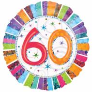 Ballon aluminium 60 ans Anniversaire Radieux