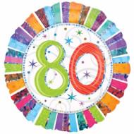Ballon aluminium 80 ans Anniversaire Radieux