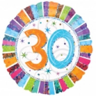 Ballon aluminium 30 ans Anniversaire Radieux