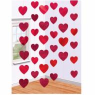 6 Décorations à suspendre Coeur