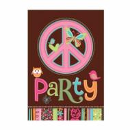8 cartes d'invitation Hippie