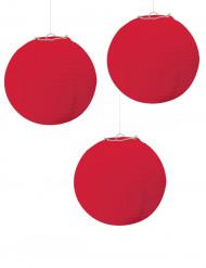 3 Lanternes rouge 24 cm