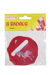 6 badges licorne personnalisable