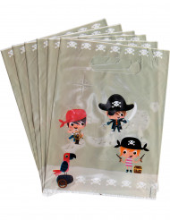 6 sacs à bonbons Pirate