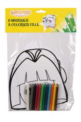 6 masques à colorier pour fille