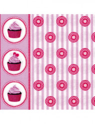 20 Serviettes en intissé Cupcakes 40 x 40 cm