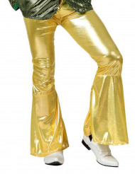 Pantalon homme disco or