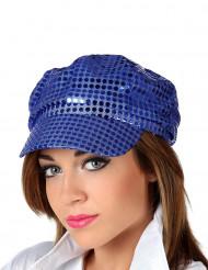 Casquette bleu disco