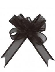 5 Mini noeuds organdi noir