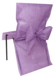 10 Housses de chaise Premium parme