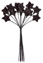Petit bouquet 12 étoiles noir 11 cm