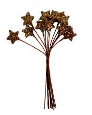 Petit bouquet 12 étoiles Chocolat 11 cm