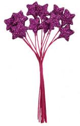 Petit bouquet 12 étoiles Fuchsia 11 cm