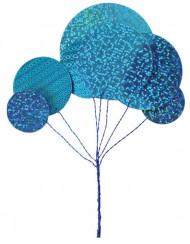 Bouquet métallique turquoise