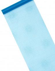 Chemin de table étoilé turquoise 5 m