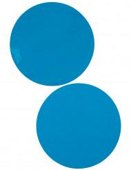 6 Sets de table rond turquoise