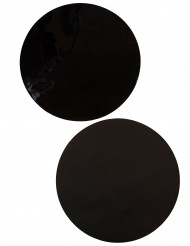 6 Sets de table rond noir