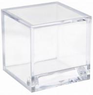 4 Boîtes cube Transparente