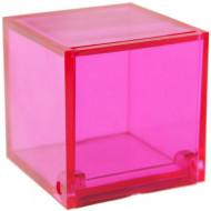 4 Boîtes cube Fuchsia