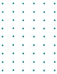 60 Perles autocollante Turquoise