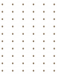 60 Perles autocollante Chocolat