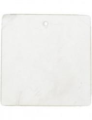 6 Marque-places carré blanc