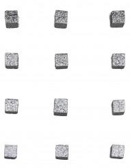 Cube pailletée Argent