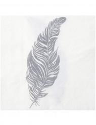 20 Serviettes en papier Plume 33 x 33 cm