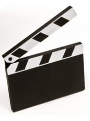 1 marque-place clap de cinéma 8 cm x 6,2 cm