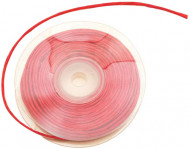 Rouleau de raphia avec fil métallique rouge