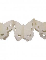 Guirlande papier papillons ivoire 4 m