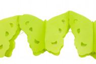 Guirlande papier papillons verts 4 m