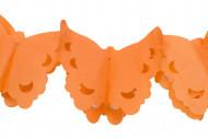 Guirlande papier papillons orange 4 m
