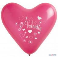8 Ballons coeur St valentin 35 cm